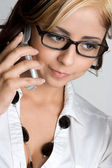 Phone Girl — Stock Photo