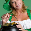 St Patricks Day Woman - Stock Photo