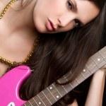 Sexy Guitar Woman — Stock Photo