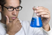 Thinking Scientist Man — Stock Photo