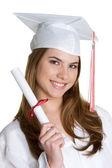 微笑毕业的女孩 — 图库照片