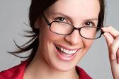 Glasögon kvinna — Stockfoto