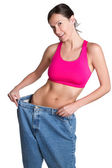 Weight Loss Woman — Stock Photo