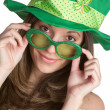 St Patricks Girl — Stock Photo