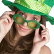 Stock Photo: st patricks girl