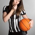 Basketball Referee Girl — Stock Photo