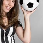 Soccer Referee Woman — Stock Photo