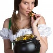 Pot of Gold Woman — Stock Photo #3229422