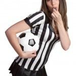 árbitro de fútbol sexy — Foto de Stock