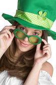 St Patricks Girl — Stock Photo