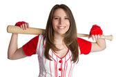Baseball Girl — Stock fotografie