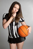 Basketball Referee Girl — Stock Photo
