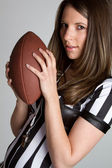 Football Referee Girl — Stock Photo