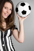 Soccer Referee Woman — Stock Photo