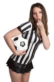 Sexy Football Referee — Stock Photo
