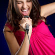 Singing Teen Girl — Stock Photo