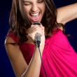 Stock Photo: Singing Teen Girl