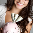 Piggy Bank Woman — Stock Photo #3293070