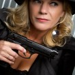 Gun Woman — Stock Photo