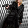 Detective Woman — Stock Photo