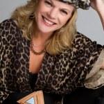 Leopard Print Woman — Stock Photo