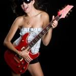 Rock Star Girl — Stock Photo