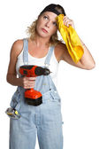 Handyman Woman — Stock Photo