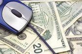 Mouse on Money — Stock Photo