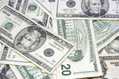 Twenty Dollar Bills — Stock Photo