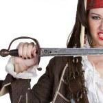 Female Pirate — Stock Photo