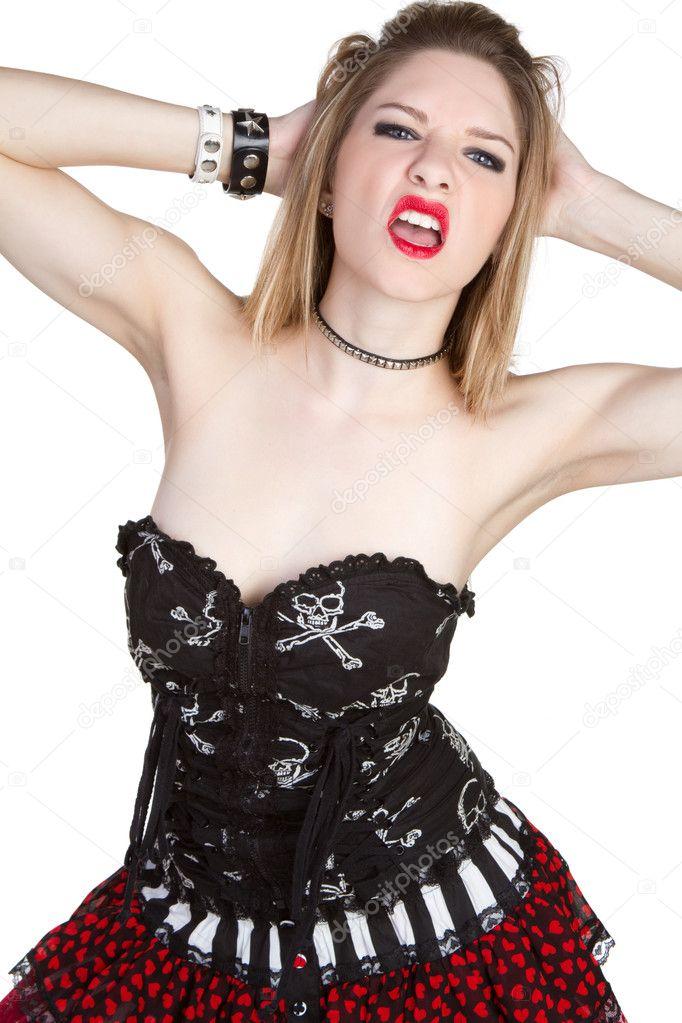 depositphotos 3309632 Aggressive Punk Girl Sexy aggressive punk girl isolated
