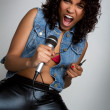 Rock Star Woman — Stockfoto