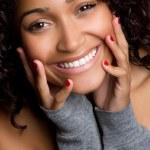 Smiling Black Woman — Stock Photo