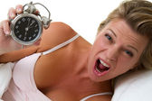 Alarm Clock Woman — Foto de Stock