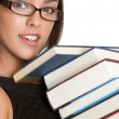 Girl Carrying Books — Stock Photo #3378377
