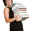 Woman Carrying Books — Stock Photo #3378392