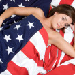 Patriotic Woman — Stockfoto #3378400