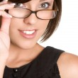 Glasses Woman — Stock Photo