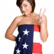 American Flag Girl — Stock Photo
