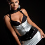 Latina Frau gestalten — Stockfoto
