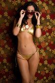 Sunglasses Bikini Woman — Stock Photo