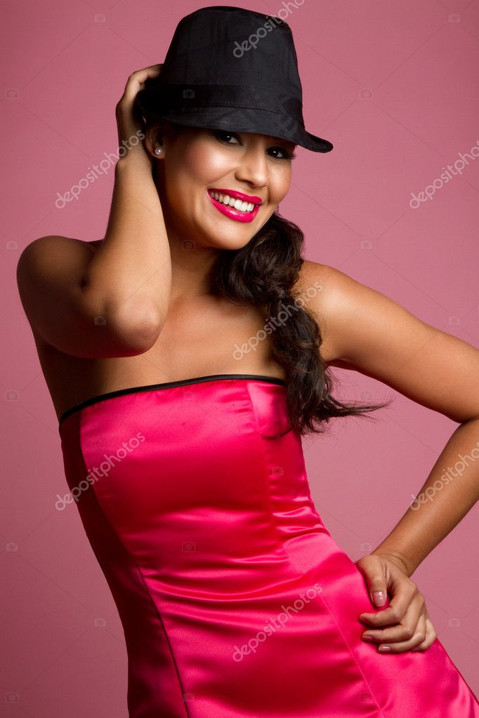 Beautiful smiling fun latina woman — Lizenzfreies Foto #3567838