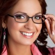 Stock Photo: Eyeglasses Woman