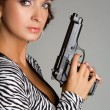 Woman Holding Gun — Stock Photo #3570327
