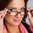 Foto Stock: Woman Wearing Glasses