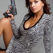 Sexy Gun Woman — Stockfoto