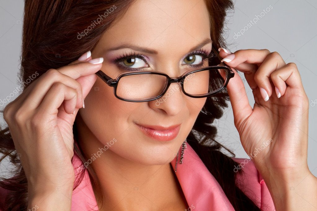 Beautiful latina woman wearing glasses  Stock Photo #3570349