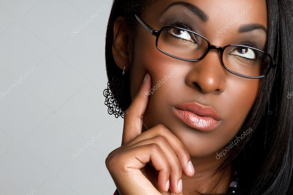 African American woman thinking — Stock Photo #3574024