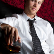 Man Drinking Alcohol - Stock Photo