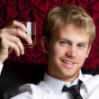 Young Man Drinking — Stock Photo
